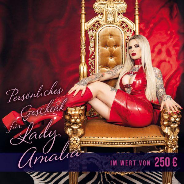 250 € Geschenkgutschein für Lady Amalia